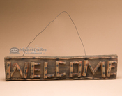 Rustic Wooden Welcome Sign