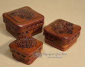 Tooled Leather Nested Box Set