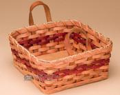 Handmade Amish Napkin Basket - Red