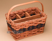 Amish Made Organizer Basket - Blue