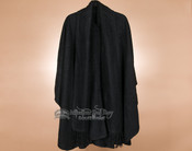 100% Brushed Alpaca Cape with Scarf - Black
