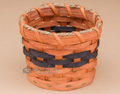 Small Handmade Amish Gift Basket - Dark Blue