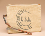 Vintage Style Canvas Pouch - Recycled