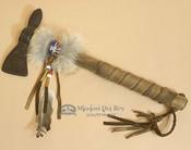 Navajo Coyote Fur Tomahawk - Double Blade