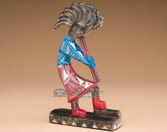 Painted Etched Horse Hair Kokopelli