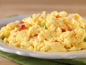Scrambled Eggs w/ Ham & Peppers