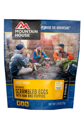 Scrambled Eggs w/ Ham & Peppers Pouch