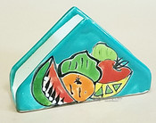 Hand Painted Pottery Talavera Napkin Holder