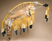Navajo Native American Deer Skin Bow & Fox Quiver Set