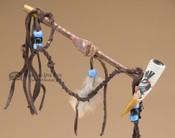"Navajo Painted Antler Draped Peace Pipe 6"" - Kokopelli"