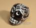 Hand Painted Day of the Dead Skull Magnet -Black & White