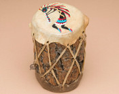 Hand Painted Log Drum - Kokopelli
