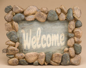 Faux River Stone Welcome Sign