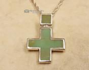 """Navajo Silver Cross Necklace 20"""""""