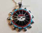 Zuni Pendant Hopi Sun and Silver Necklace Set