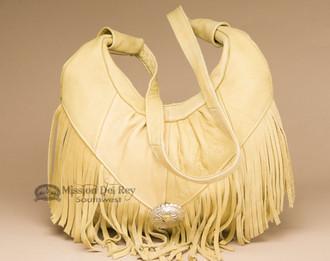 Southwestern Soft Leather Concho Purse - Gold
