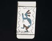 American Indian Sterling Silver Money Clip - Kokopelli