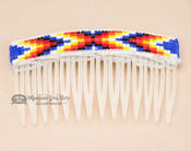 Navajo Beaded Hair Comb - Clear
