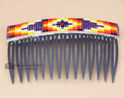 Navajo Beaded Hair Comb - Blue