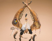 Apache Indian Beaded Jawbone Dreamcatcher
