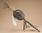 Native American Antler Dreamcatcher Dance Stick 27
