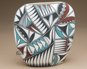 Southwest Painted Pillow Vase - Tigua