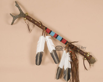 Native American Tiguan Beaded Dance Stick