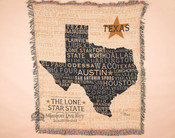 Soft Woven Texas State Throw Blanket