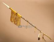 Navajo Hand Beaded Deerskin Lance