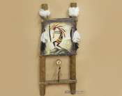 Southwestern dreamcatcher ladder -Kokopelli