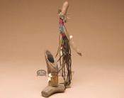 Navajo Beaded Standing Antler Pipe