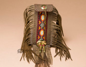 Native American Tigua Indian Elk Hide Side Bag