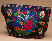 Southwestern Cotton Purse -Day of the Dead Dance