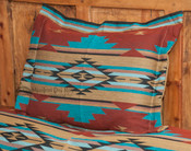 Southwestern Chevron Pillow Sham 24x28 -Rust