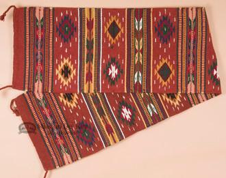 Southwestern Wool Rust Table Runner - 16x80