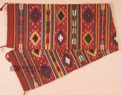 Southwestern Wool Rust Table Runner - 16x80