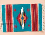 Southwestern Wool Placemat 15x22 -Chimayo Blue