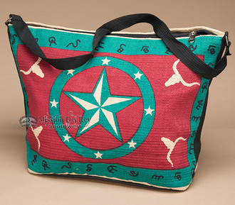 Southwest Native Design Purse -Turquoise Star
