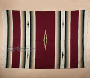 Southwest Diamond Center Blanket 5x7 -Maroon