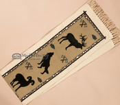 Southwestern Textured Table Runner -wildlife closeup