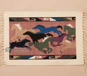 Southwestern Cotton Placemat - Running Horses