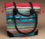 Southwest Rug Tote Bag 17x17 -Turquoise & Corral