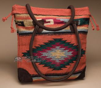 Southwest Rug Style Tote Bag 17x17 (mont-e)