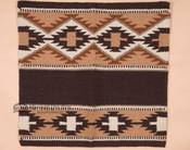 Handwoven Wool Saddle Blanket -Tan & Brown