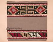 Western Wool Saddle Blanket -Grey & Red
