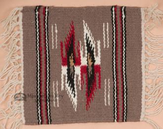Handwoven Wool Placemat -Chimayo Grey
