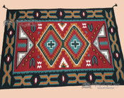 Large Handwoven Wool Southwestern Area Rug  4x6