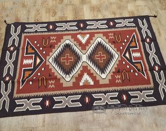 Southwestern Handwoven Wool Rug 4x6