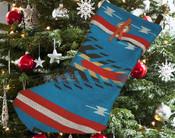 Southwest Concho Christmas Stocking -Maricopa Blue