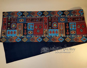 Southwestern tapestry quality woven table runner